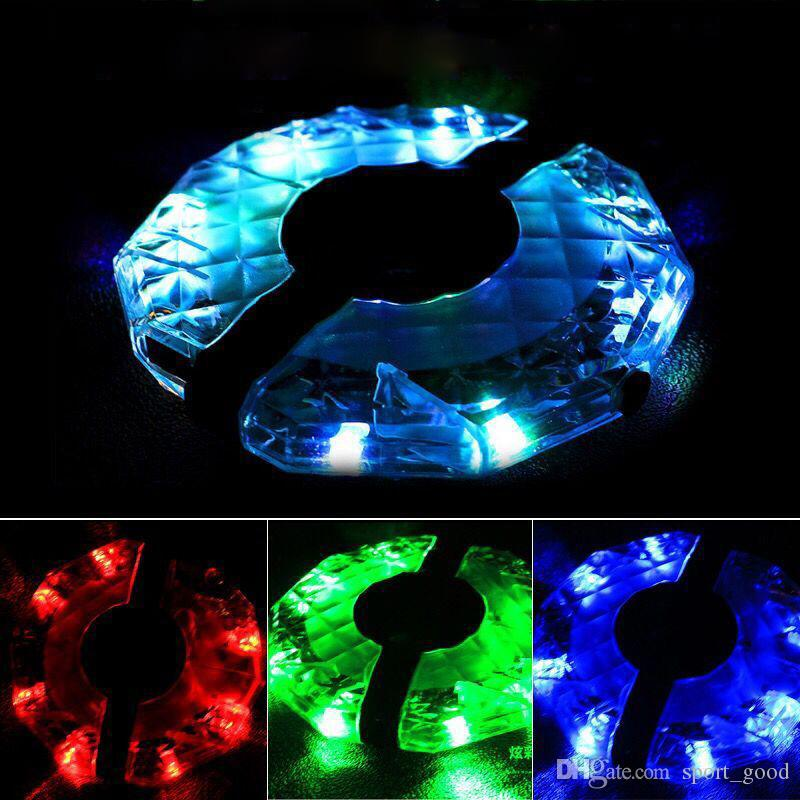 Cycling bike warning lights mountain bike four-in-one charging UFO drum lights bicycle night riding wheels LED lights
