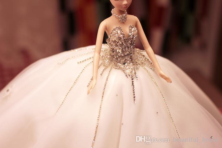 Gro 223 Handel Charmante Barbie Puppen Kleine Braut Brautkleid