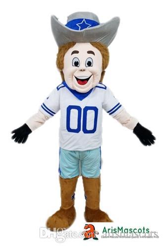 Adult Size Dallas Cowboy Rowdy Mascot Costume Sports Mascots Team