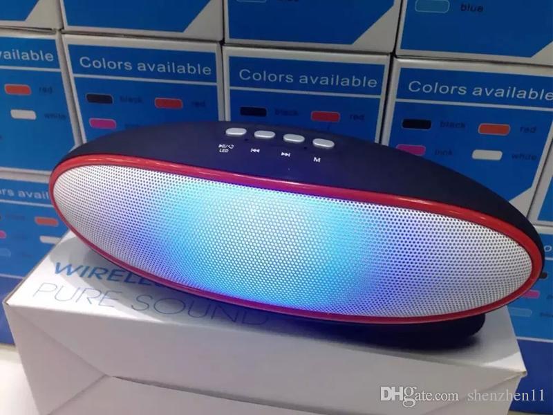 LED A52 Lautsprecher Bluetooth Hand Free FM Radio Wireless Mini Outdoor-Lautsprecher Schwarz Weiß Rot Blau DHL Frei MIS099