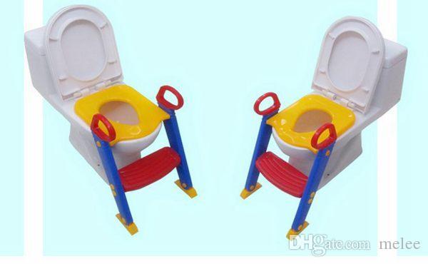 Baby Toddler Potty Entrenamiento Escalera de inodoro Pasos de asiento Seguridad Loo para niños Silla / Niños Silla de inodoro silla