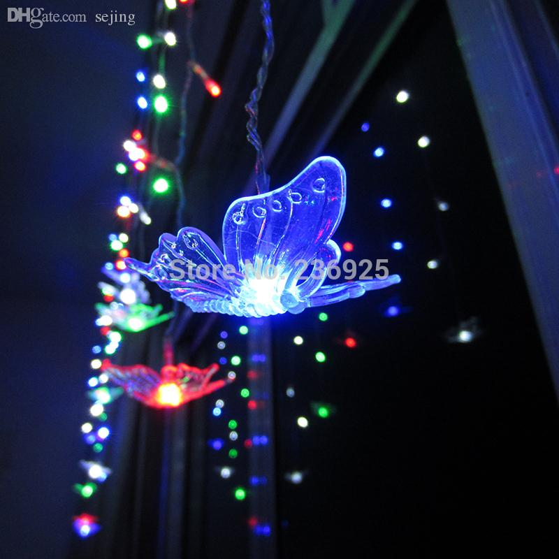 Cheap String Lights Indoor: Wholesale Romantic Butterfly Colorful Led String Lights