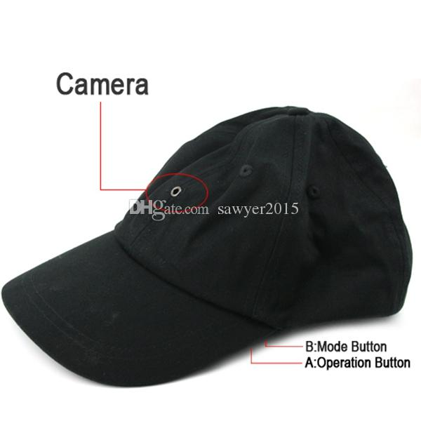 HD Cap Camera Hat mini DVR pinhole camera с MP3-плеером Bluetooth Romote Control черный в розничной коробке