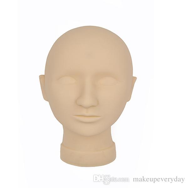 Venta caliente práctica del tatuaje Mannequin Head Permanent Makeup Model Head máscara para el arte de la belleza