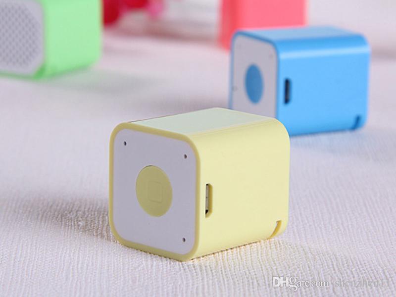 Mini Carré Bluetooth Haut-Parleur Smart Box Portable Handfree Coloré Petite Sound Box Extérieure Pour Téléphone Mobile DHL Libre MIS120