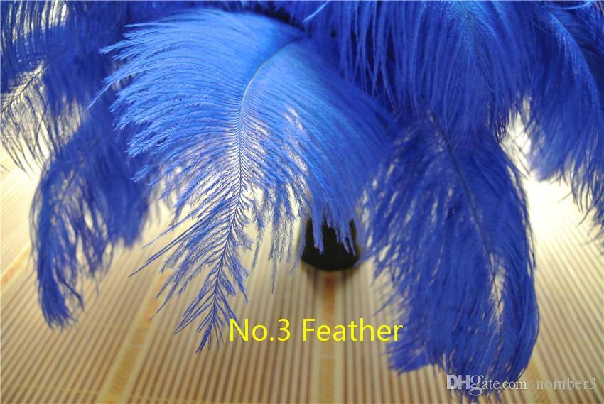 Оптовая 100 шт королевский синий из страусиных перьев для свадьба центральным стол декор свадьба центральным декор перо