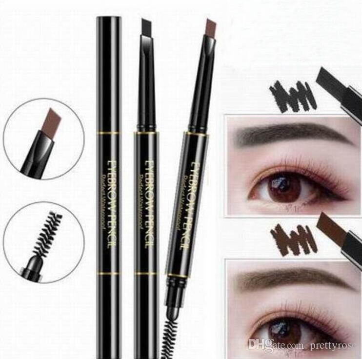 Promotion Wasserdichte Doppelkopf Make-up Automatische Augenbrauenstift mit Augenbrauen Pinsel Make-Up Kosmetische Schönheit Werkzeuge 5 Farben