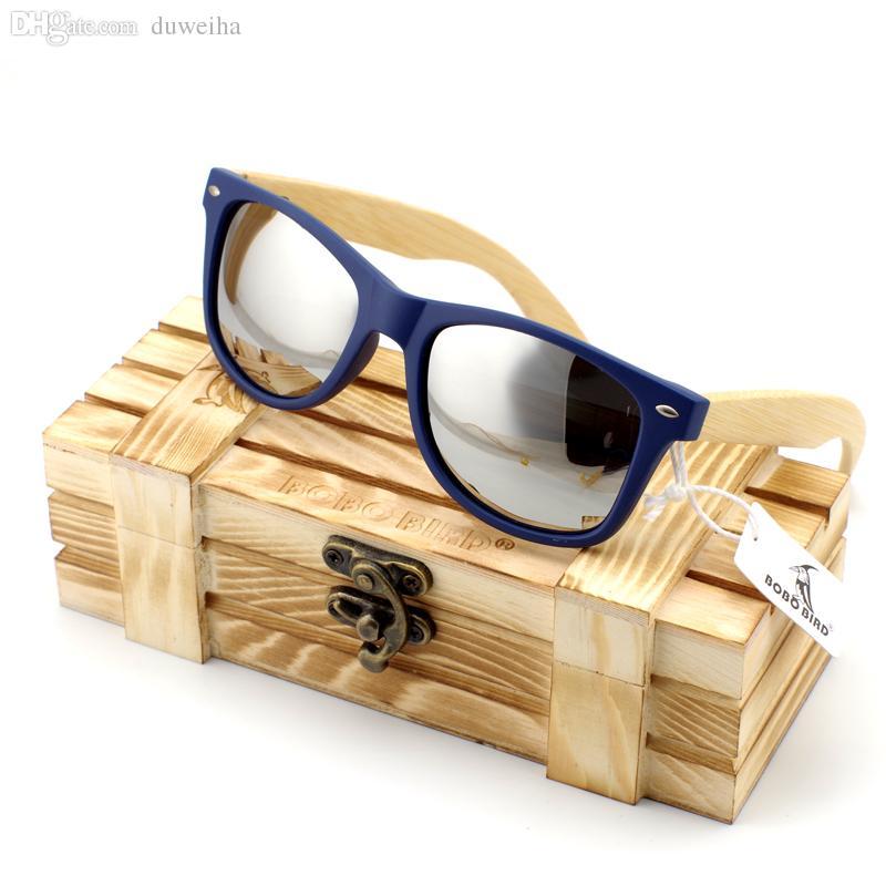51478b3659 Compre Gafas De Sol De Madera De Bambú Al Por Mayor Para Hombres En Estilo  Vintage Con Marco De Plástico Y Lentes De Colores Con Protección UV  Polarizada En ...