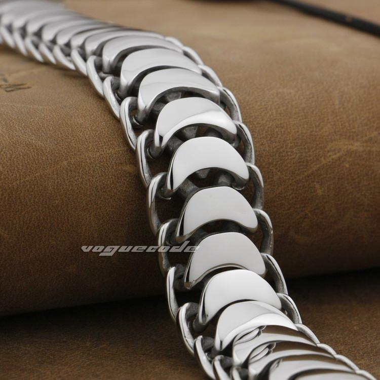 10 Length 316L Stainless Steel Mens Biker Rocker Bracelet 5E007A Punk Jewelry