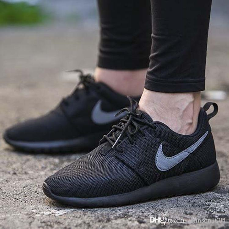 classic fit 92c40 fddca nike roshe one all black womens