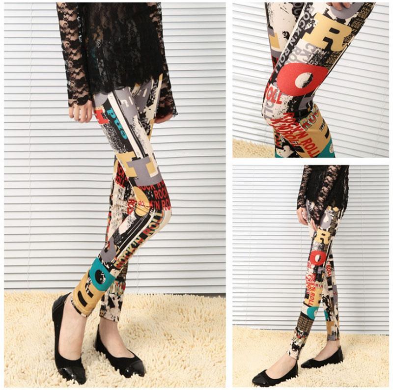 Grosshandel Art Und Weise Polyester Damen Beilaufige Leggings Frauen