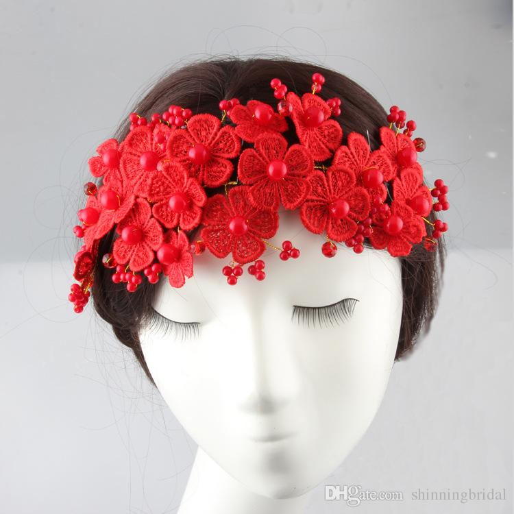 2016 Hair Flowers Accessories Wedding Flowers Appliques Lace Beading Wedding Accessories Bridal Flowers for Hair New Cheap