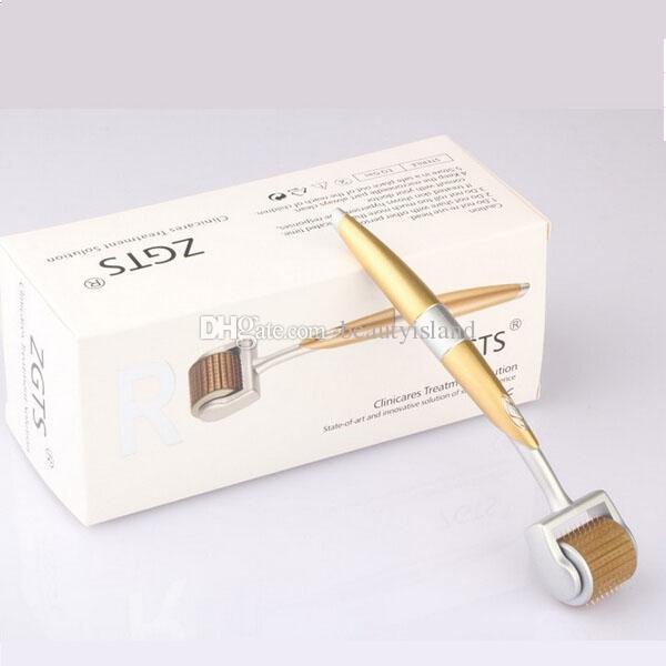 192 aghi ZGTS sistema rullo derma / micro sistema a rulli ago in titanio / zgts dermaroller 192 pin Trattamento di caduta dei capelli