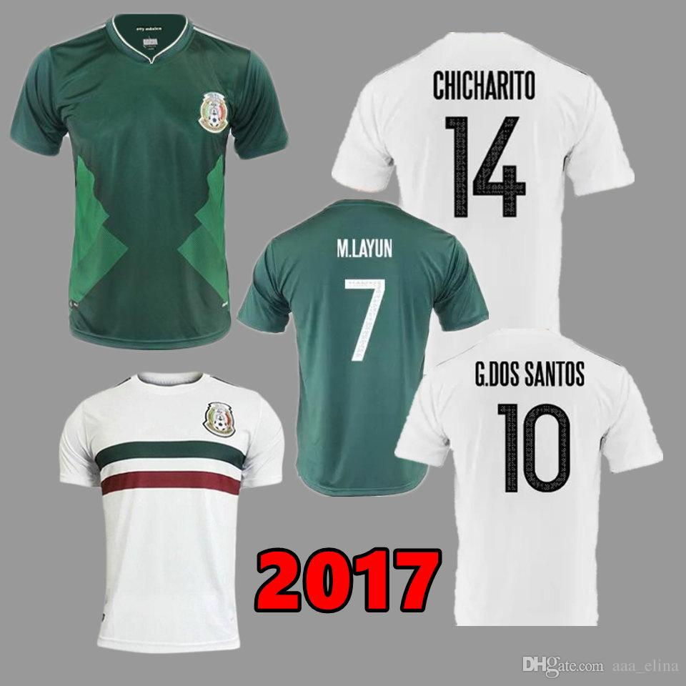 ... coupon for mexico 10 g.dos santos away long sleeves soccer country  jersey 055ea 883ff 66d5ac878