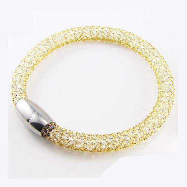 bracelet en acier bracelet pour les femmes 18K plaqué or véritable bijoux fine Nickel sans plomb mode indienne bracelets bracelets bracelets pour les femmes
