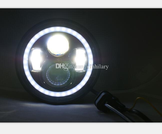 7 '' Tour 40W Phares LED de voiture pour Jeep Wrangler illimité Off Road 4x4 DRL Brouillard Conduite Lampe 4X10W CREE LED Tête Lumières avec Shift Couleur