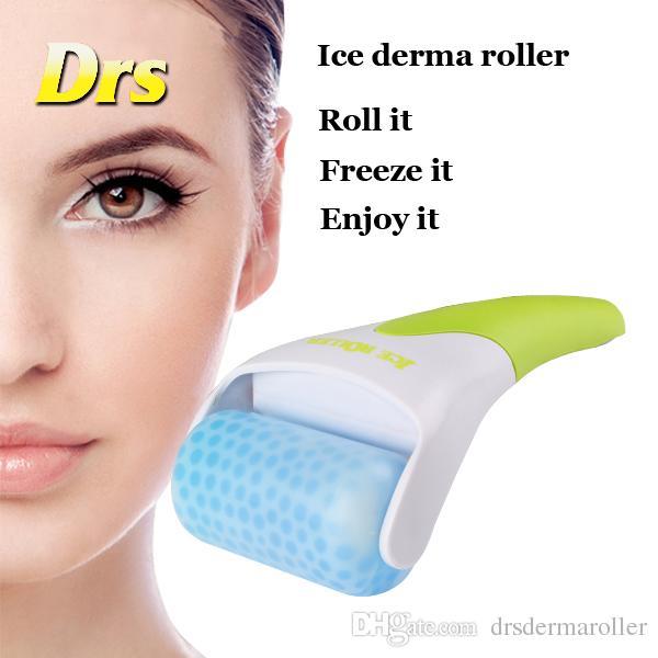 La venta caliente de la piel calma el rodillo de hielo del rodillo del derma del hielo de la cabeza plástica con el envío libre de DHL