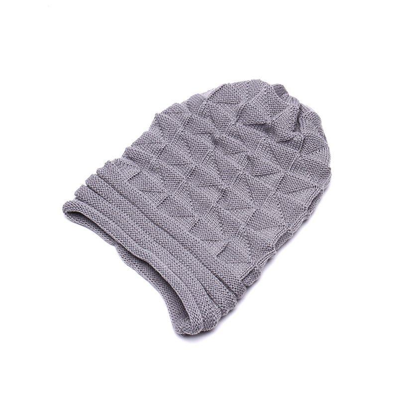 Yeni Açık örme şapka kat flanş kap erkekler ve kadınlar güz ve kış kayak yün kap
