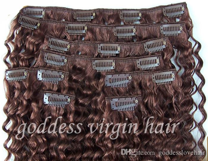 New star 33 dark auburn brown kinky curly clip in hair extensions new star 33 dark auburn brown kinky curly clip in hair extensions human 9pcs grade 7a unprocessed virgin brazilian hair remy 100g 8 30 pmusecretfo Choice Image