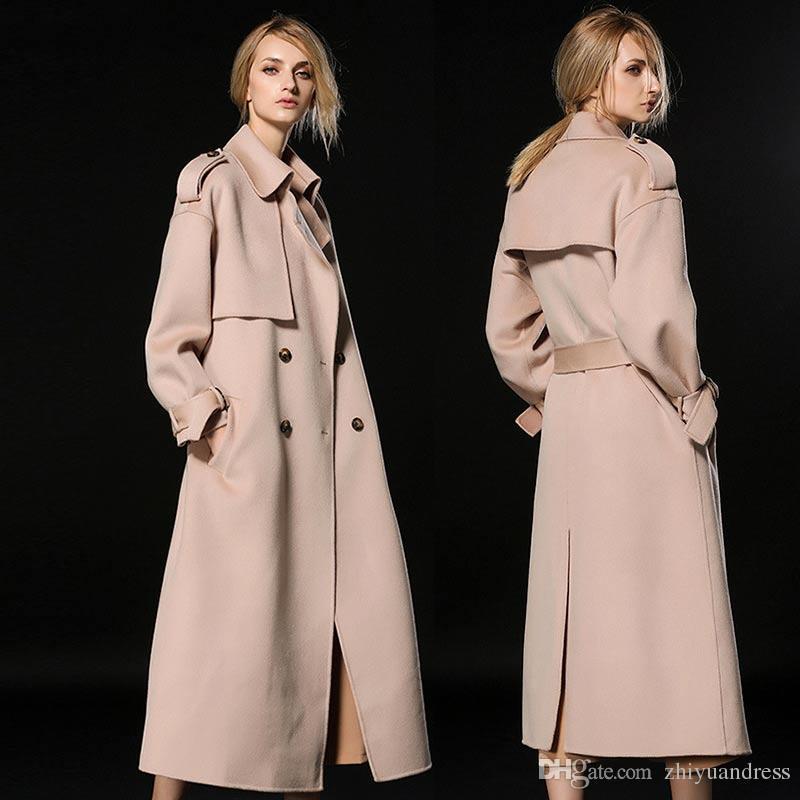 2017 X Long Woman Wool Cashmere Coats 2018 High Quality Fashion ...