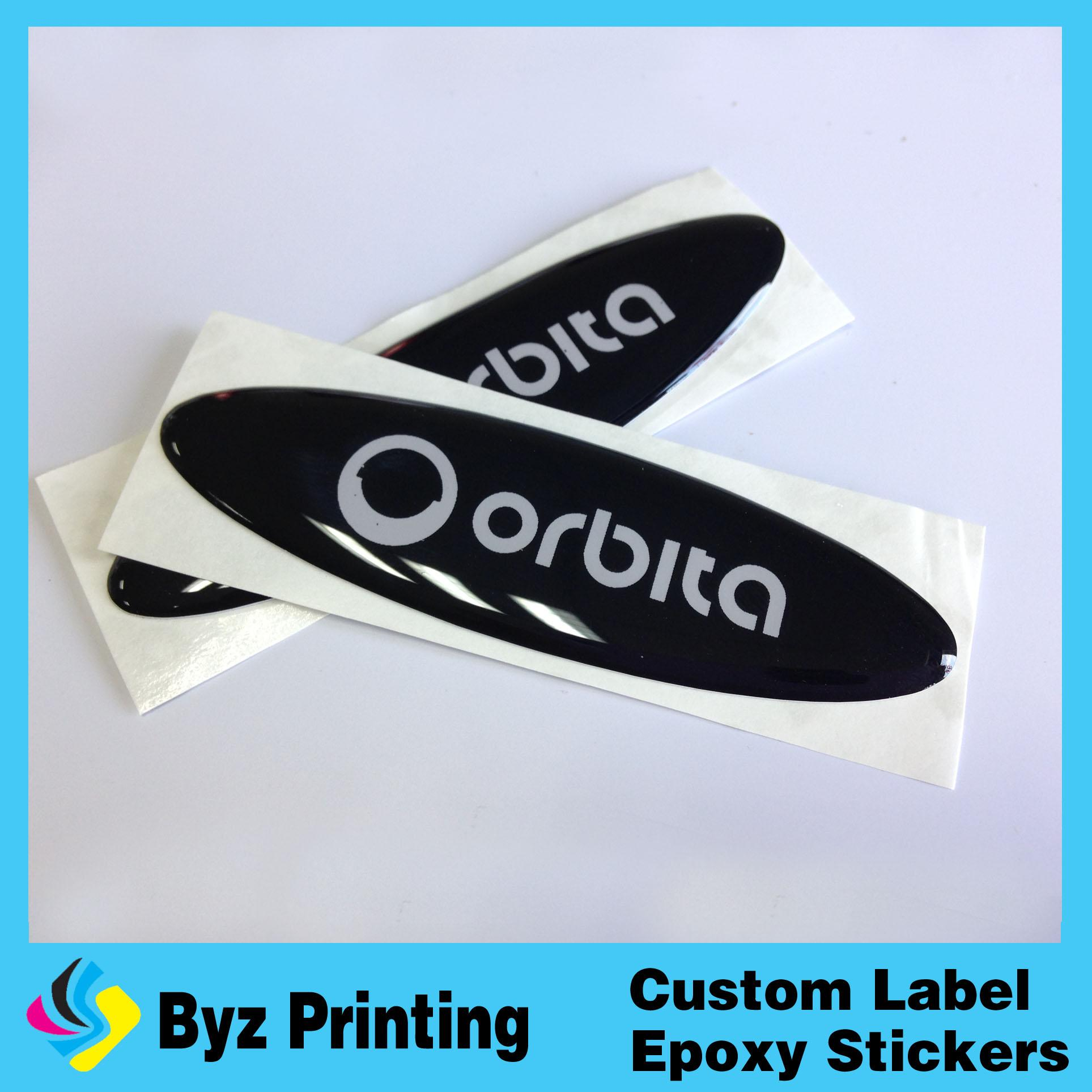 Custom make epoxy resin clear epoxy sticker, 3D Dome custom flag 3D sticker  doming machine