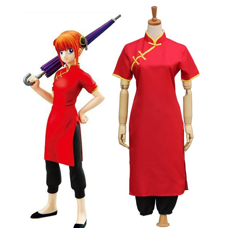 Gintama Silver Soul Kagura Cosplay Costume Women Short Sleeves Cheongsam  The Chinese Dress Pants Kimono Uniform Suit Anime Wolf Costume Best Anime  Halloween ...
