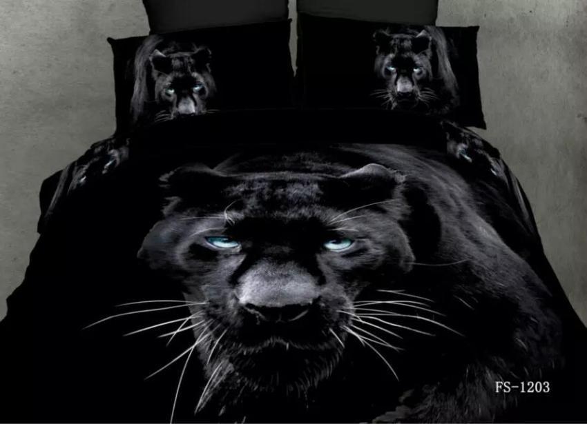3d Black Panther Bedding Sets Queen Size Quilt Double