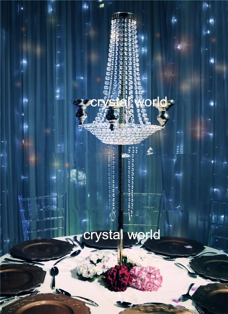 Горячо! 12 металл щепка высокий свадебный цветок vasestand / элегантный свадебный стол цветок стенды центральные для декоративного стола венчания