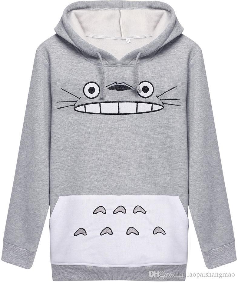 Herbst und Winter mit Kapuze Sport Top-europäischen und amerikanischen Frauen-Pullover neuen Comic-Katze Druck langen Hülse Outdoor-Freizeit-Hoodiemantel