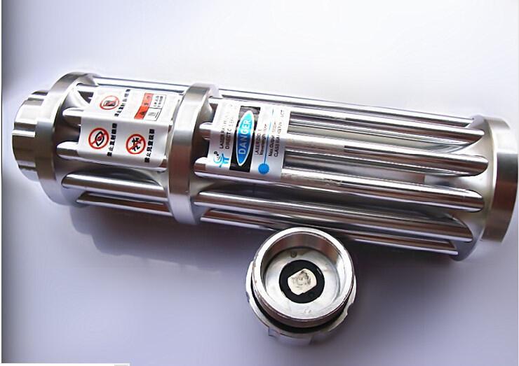 NUEVO Potente potente LAZER Linternas punteros láser azul 10000m 450nm SOS Luz lámpara de señal de camping Caza + 5 tapas + gafas + caja