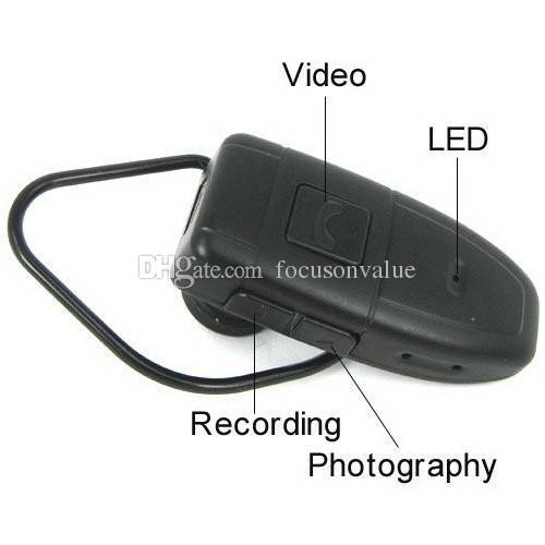 Bluetooth earphone Headset Camera 4GB HD Bluetooth Headset DVR pinhole Camera video recorder Mini Camcorder in retail box droshipping