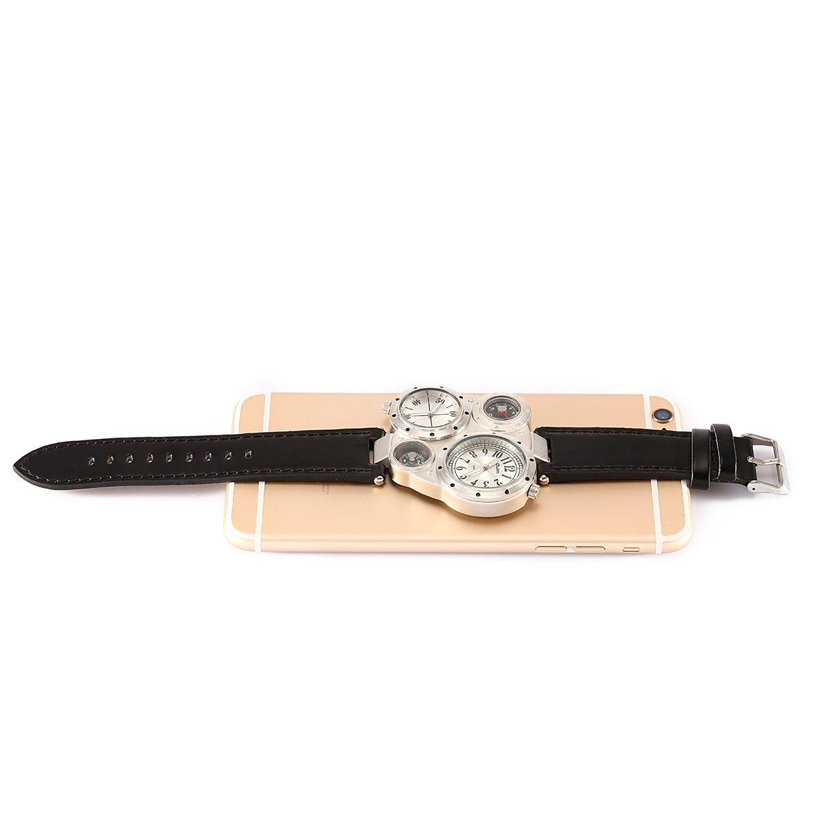 Новое прибытие мода многофункциональный кварцевые часы мужские наручные часы Кожаный ремешок Марка Oulm 50 шт. падение Бесплатная доставка