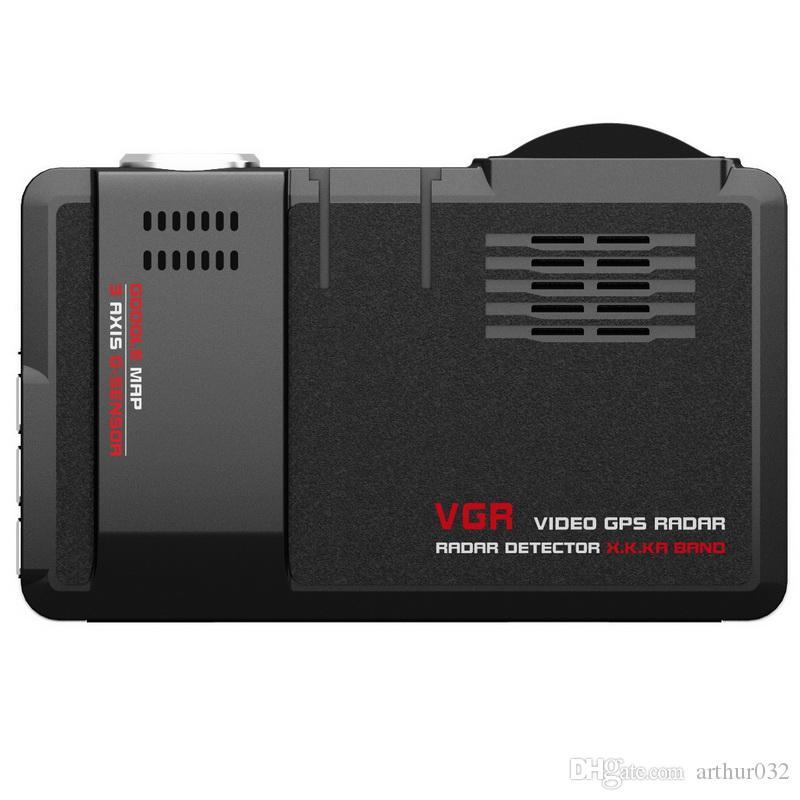 SQ680S 3 in 1 VGR Video GPS Radar Dedektörü X.K.KA Band Google Harita 3 Eksen G-Sensörü 720 P Yüksek Çözünürlüklü Lens Araba DVR için Gece Görüş E-Köpek