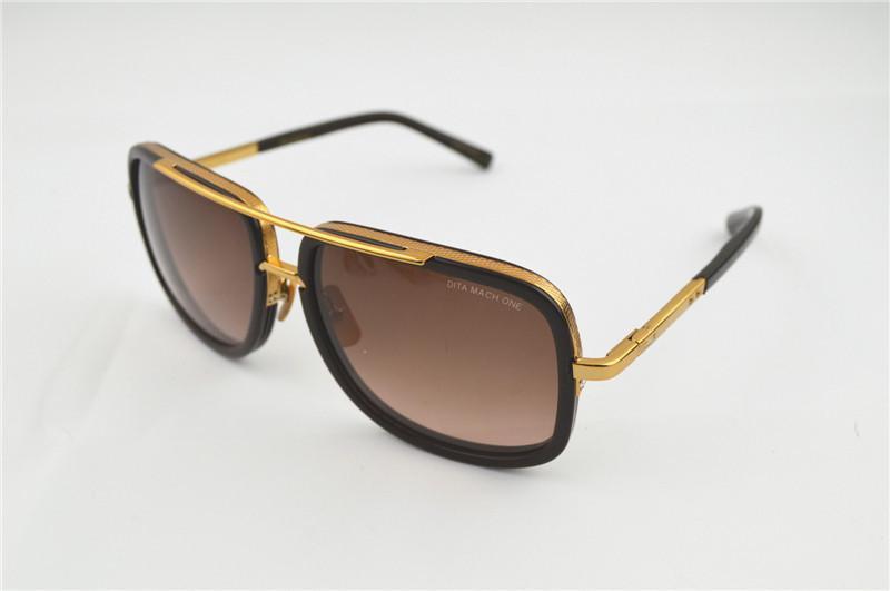 7e4a467d1a1b0 Compre Dita Gafas De Sol Gafas De Sol De Diseñador De Los Hombres Glod  Hombres De Las Mujeres Gafas De Sol Masculino Dita Mach One Gafas De Sol A   50.61 Del ...