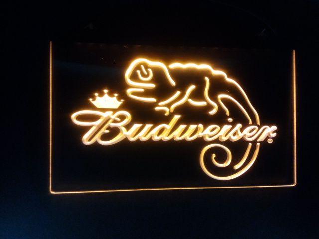 Barre de bière Budweiser Frank Lizard b-11 Panneaux lumineux au néon