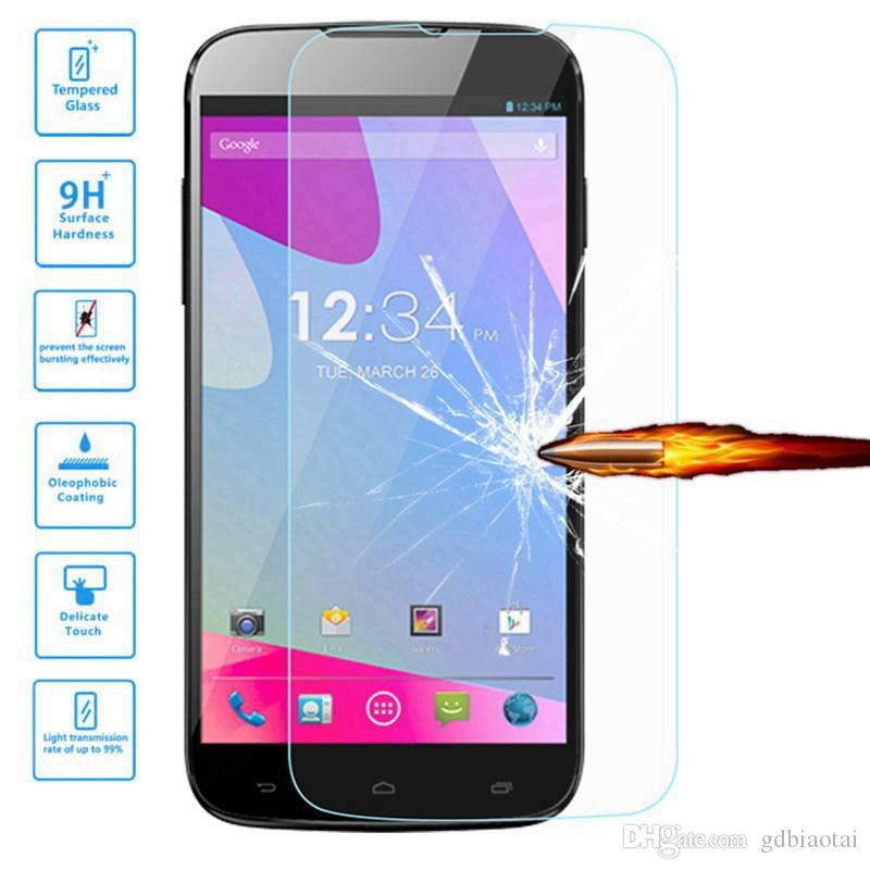 High Quality 0.3mm 2.5D Tempered Glass Membrane Anti-Scratch Explosion-proof With Retail Packaging For BLU Studio 6.0 HD/D650A