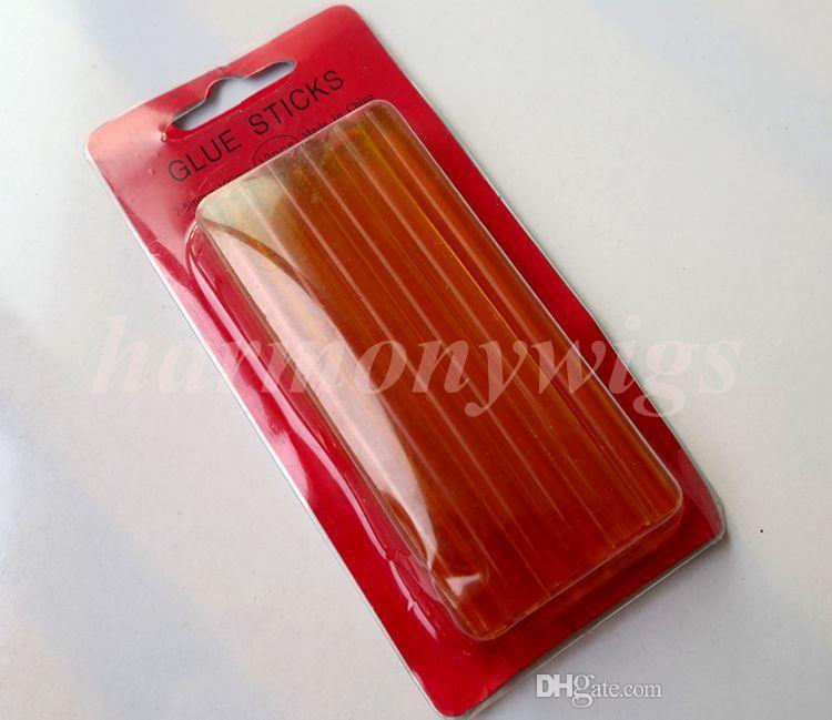 Derreta Bastões de Cola 7mm x 100mm Para Elétrica Glue Gun Craft Álbum Reparação extensões de cabelo humano ferramentas 4 cores 12 pçs / lote