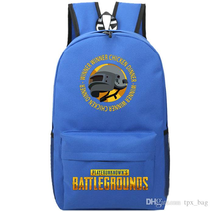 dc06f7eb16 Military Helmet Backpack H1z1 Winner Dinner School Bag Player ...