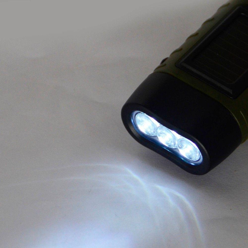 SOS Hotsale Portátil LED Manivela Dínamo Lanterna Lanterna de Energia Solar Ao Ar Livre Camping Montanhismo Noite Linternas
