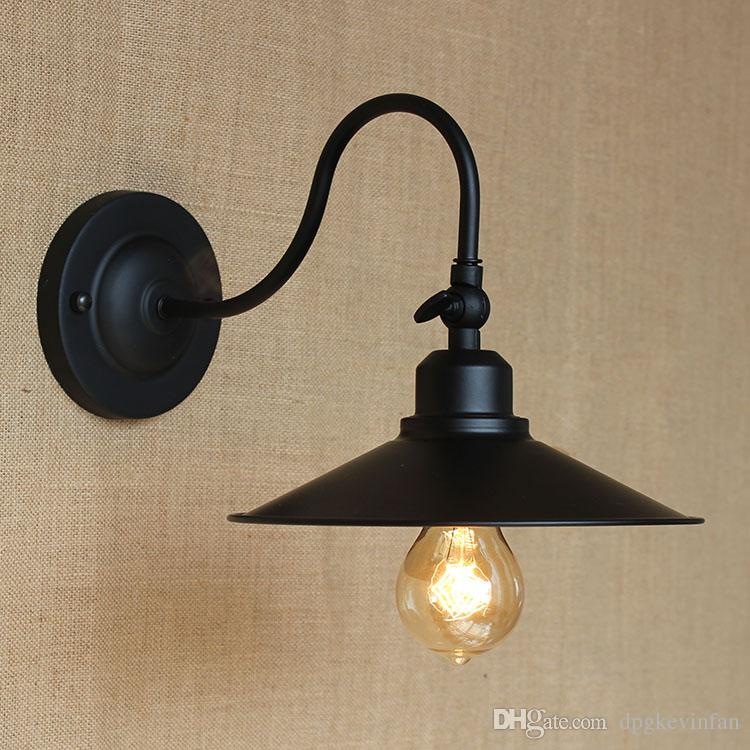 High quality Indoor metal Wall lamp Loft Northern Europe american vintage retro country wall light Sconce Iron