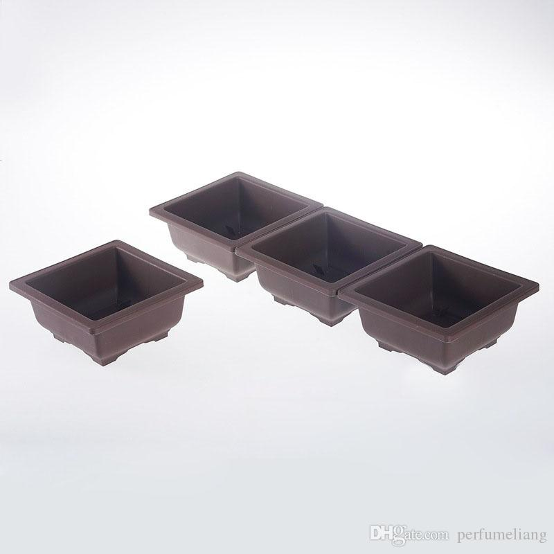 Basin Plastic Flower Pot Balcony Square Flower Bonsai Bowl Nursery Pots Basin Planter Garden Supplies ZA5116