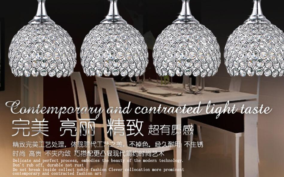 Crystal Chandeliers Restaurant Lights 3 Glass Dining Table Lamp Creative Bar Led Pendant Lamps Ceiling Fans With