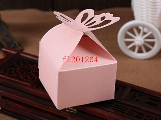 Fedex DHL Newest Folding DIY Butterfly Candy Box wedding favors gifts Boxes