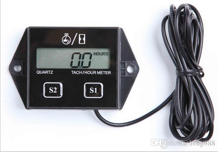 Tachometer With Hour Meter : Analog tachometer for boats with engine hour meter craftsman