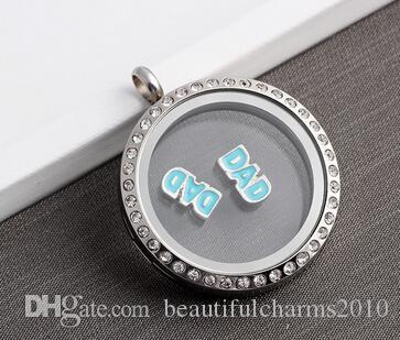 / émail papa bricolage alliage charmes flottants adaptés pour le verre magnétique médaillons vivant bijoux de mode