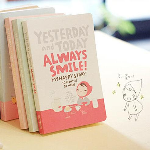 online cheap cute notebook red hat girl week plan diary day planner
