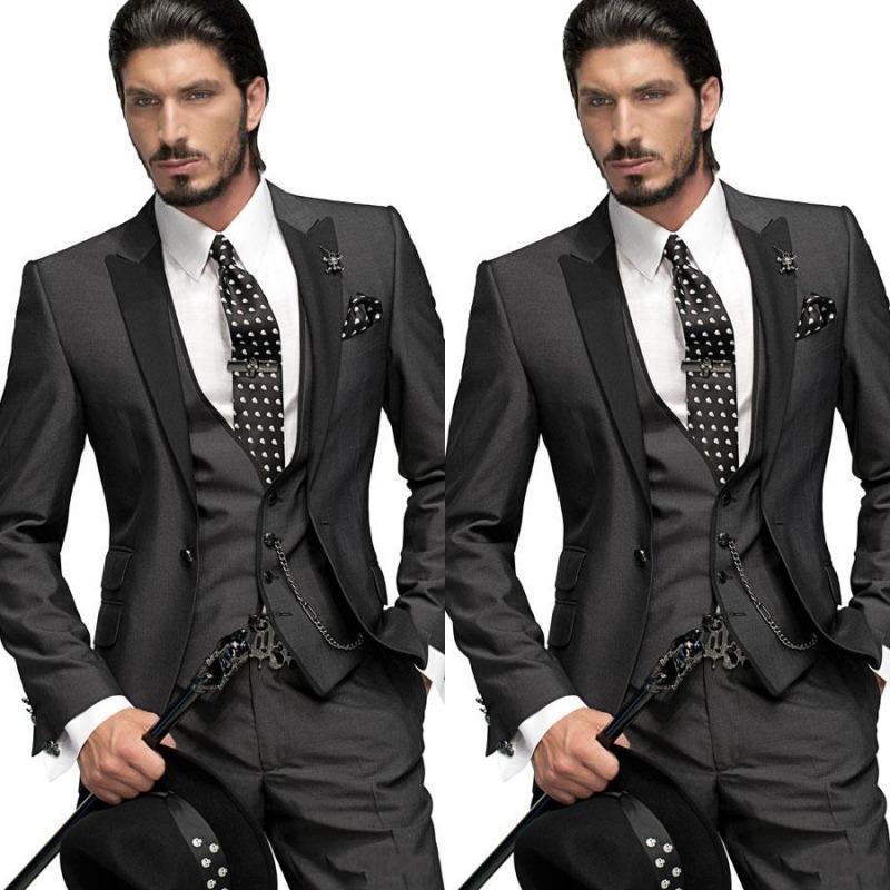 d3d611a4c8e1a 2015 Yüksek Kalite Erkekler Suit Bestmen Damat Smokin Resmi Takım Elbise İş  Erkek Giyim Ceket +