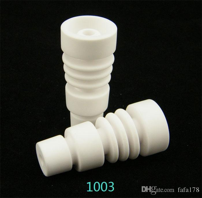 14mm&18mm domeless ceramic nail with male female carb cap joint GR2 titanium nail domeless titanium nail