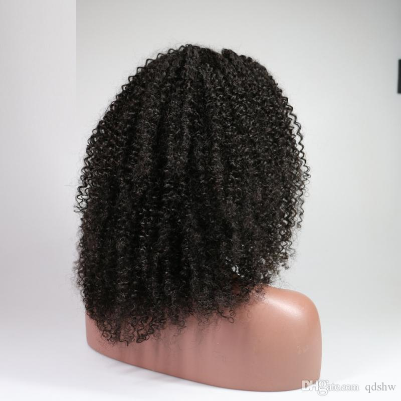 Kinky Curly Lace Front Human Hair Wigs For Black Women Glueless Afro Curly Full Lace Wigs Glueless Mongolian Virgin Afro Kinky Curly Wig