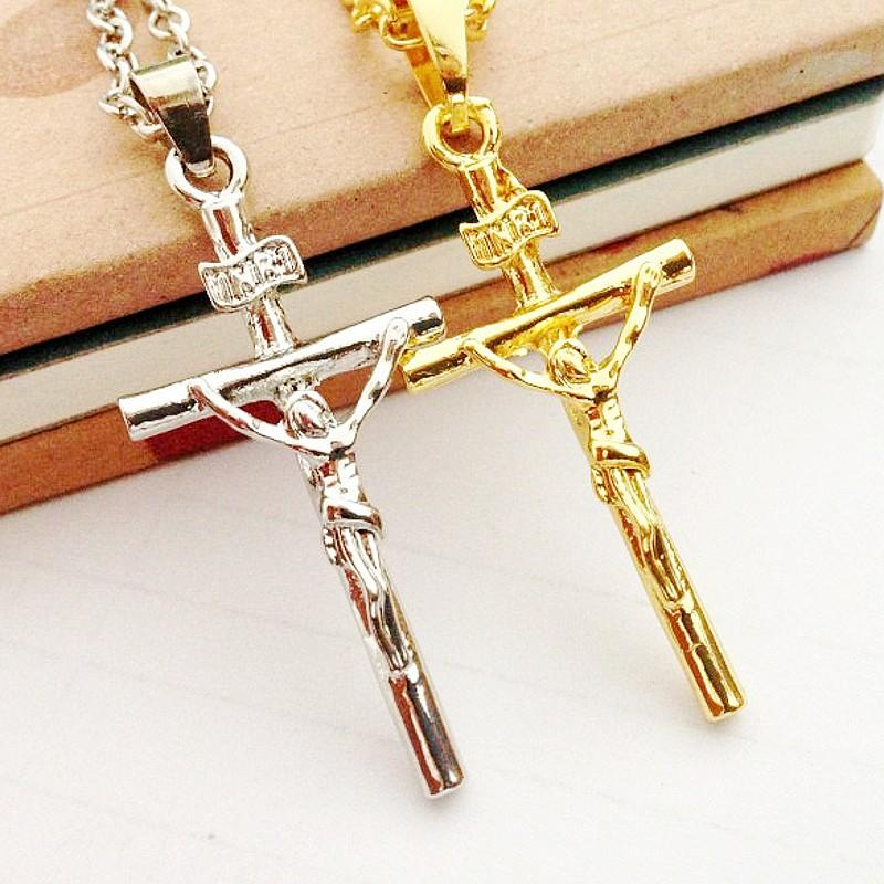 Wholesale Dhl Wholesale Men Women Jewelry Gold Silver Chains Cross